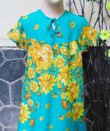 Dress baju anak batita perempuan cewek 4-5tth Daster tali dada adem lembut motif tosca bunga mekar
