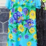 Dress baju santai anak perempuan cewek 5-6tth Daster tali dada adem lembut motif biru bunga mekar
