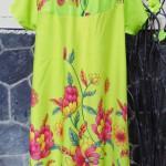 Dress baju santai anak perempuan cewek 5-6tth Daster tali dada adem lembut motif hijau pupus bunga mekar