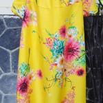 Dress baju santai anak perempuan cewek 5-6tth Daster tali dada adem lembut motif kuning bunga mekar