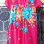 Dress baju santai anak perempuan cewek 5-6tth Daster tali dada adem lembut motif pink fanta bunga mekar