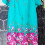 Dress baju santai anak perempuan cewek 5-6tth Daster tali dada adem lembut motif tosca bunga mekar