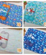 EKSKLUSIF Kado Bayi Baby Bedding Set 4in1 Matras Perlak Set Bantal Peang Plus 2 Guling Aneka Motif Cowok (1)
