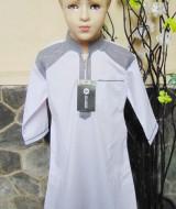 Gamis anak laki-laki jubah muslim putih 5-6th 66 lebar dada 37cm, panjang 75cm, usia hanya estimasi silahkan dicocokkan dengan anaknya mom