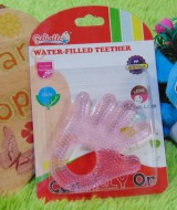 Gigitan bayi reliable water filled teether tangan pink