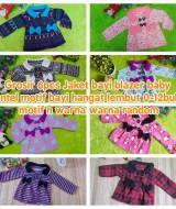 Grosir 6pcs Jaket Bayi Blazer Baby mantel motif bayi hangat lembut 0-12bulan RANDOM