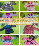 Grosir 6pcs Jaket bayi blazer baby mantel motif bayi hangat lembut 1-2tahun RANDOM