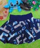 Rok bayi newborn mini imut flare skirt Fenli Navy 0-6bulan