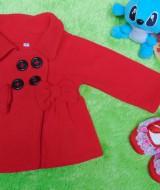 Set Jaket bayi hangat lembut mantel bayi dan sepatu balet merah 0-6 bulan