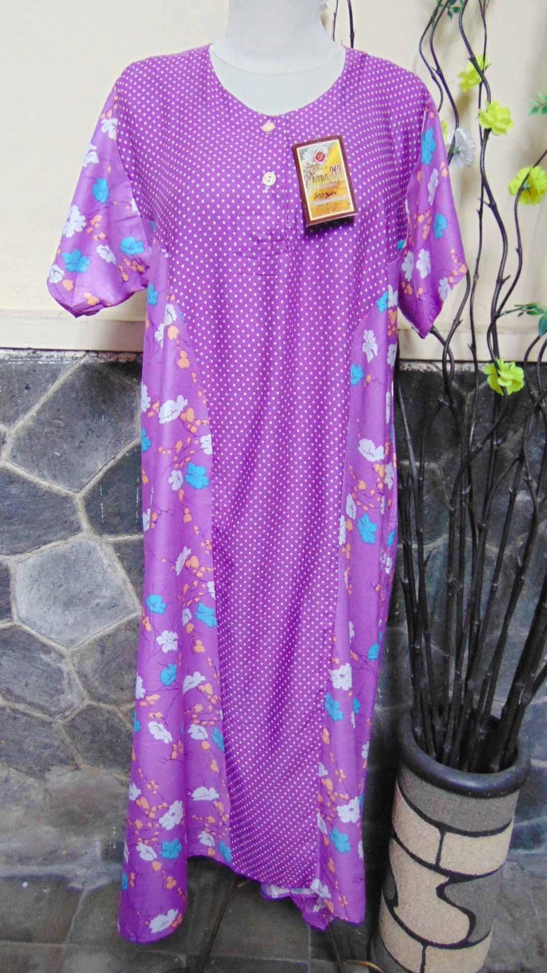 baju tidur santai batik daster wanita lengan pendek pias cantik daster diana motif polka bunga ANEKA WARNA (2)