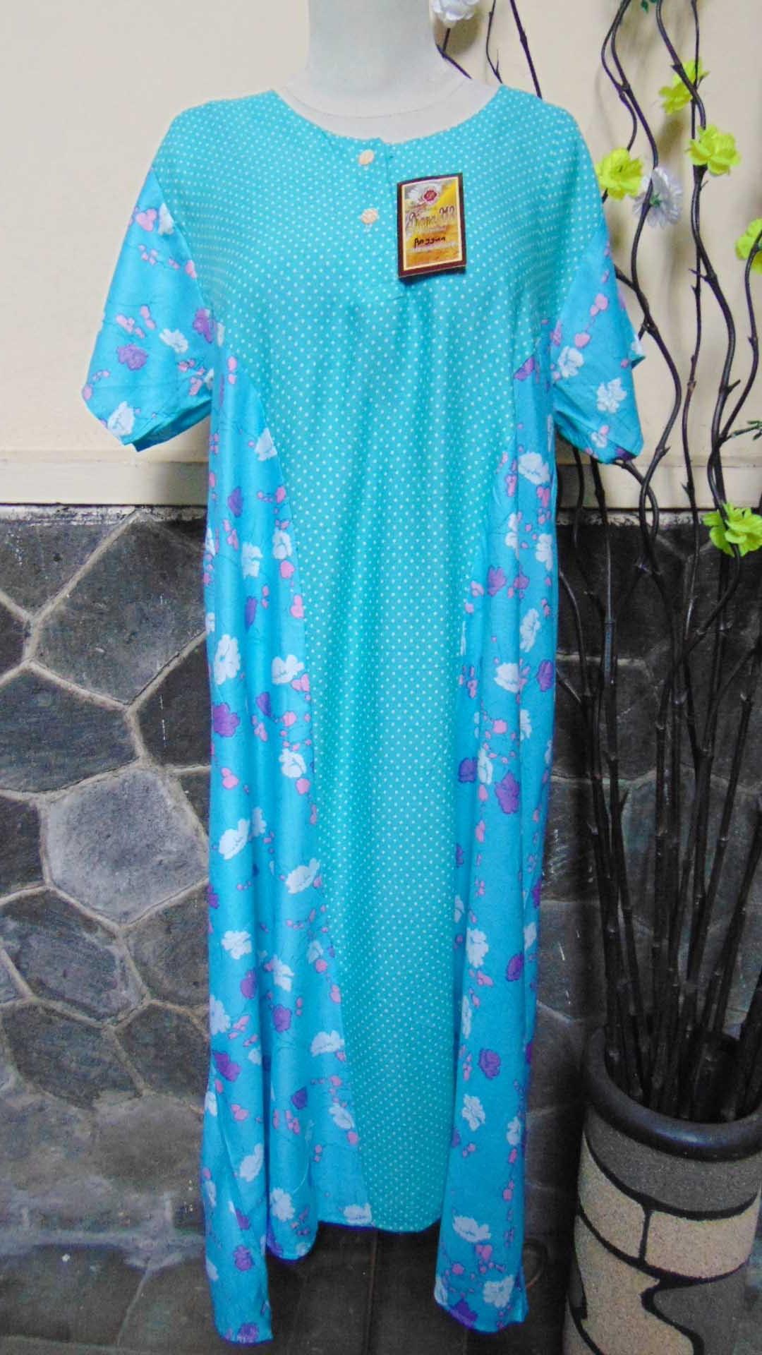 baju tidur santai batik daster wanita lengan pendek pias cantik daster diana motif polka bunga ANEKA WARNA (3)