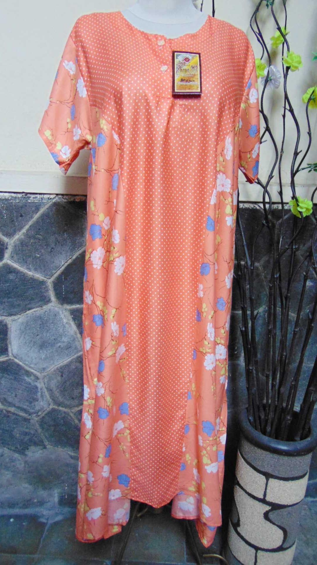 baju tidur santai batik daster wanita lengan pendek pias cantik daster diana motif polka bunga ANEKA WARNA (5)