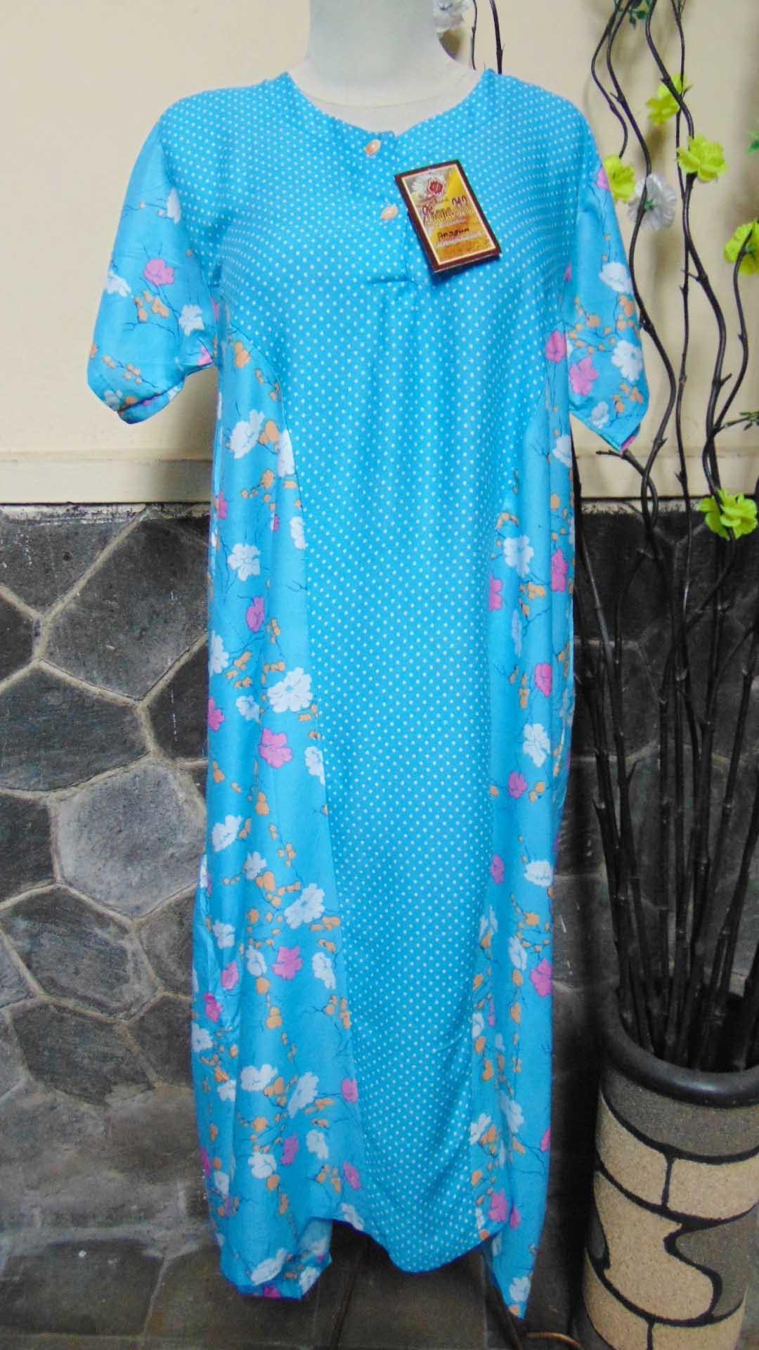 baju tidur santai batik daster wanita lengan pendek pias cantik daster diana motif polka bunga ANEKA WARNA