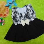 dress baju pesta anak bayi perempuan cewek newborn 0-6bulan pita pastel abstrak black