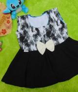 dress baju pesta anak bayi perempuan cewek newborn 0-6bulan pita pastel abstrak black 25 bahan wafel lembut,nyaman untuk bayi, lebar dada 29cm, panjang 38cm, slkn dcocokkan dg uk baby