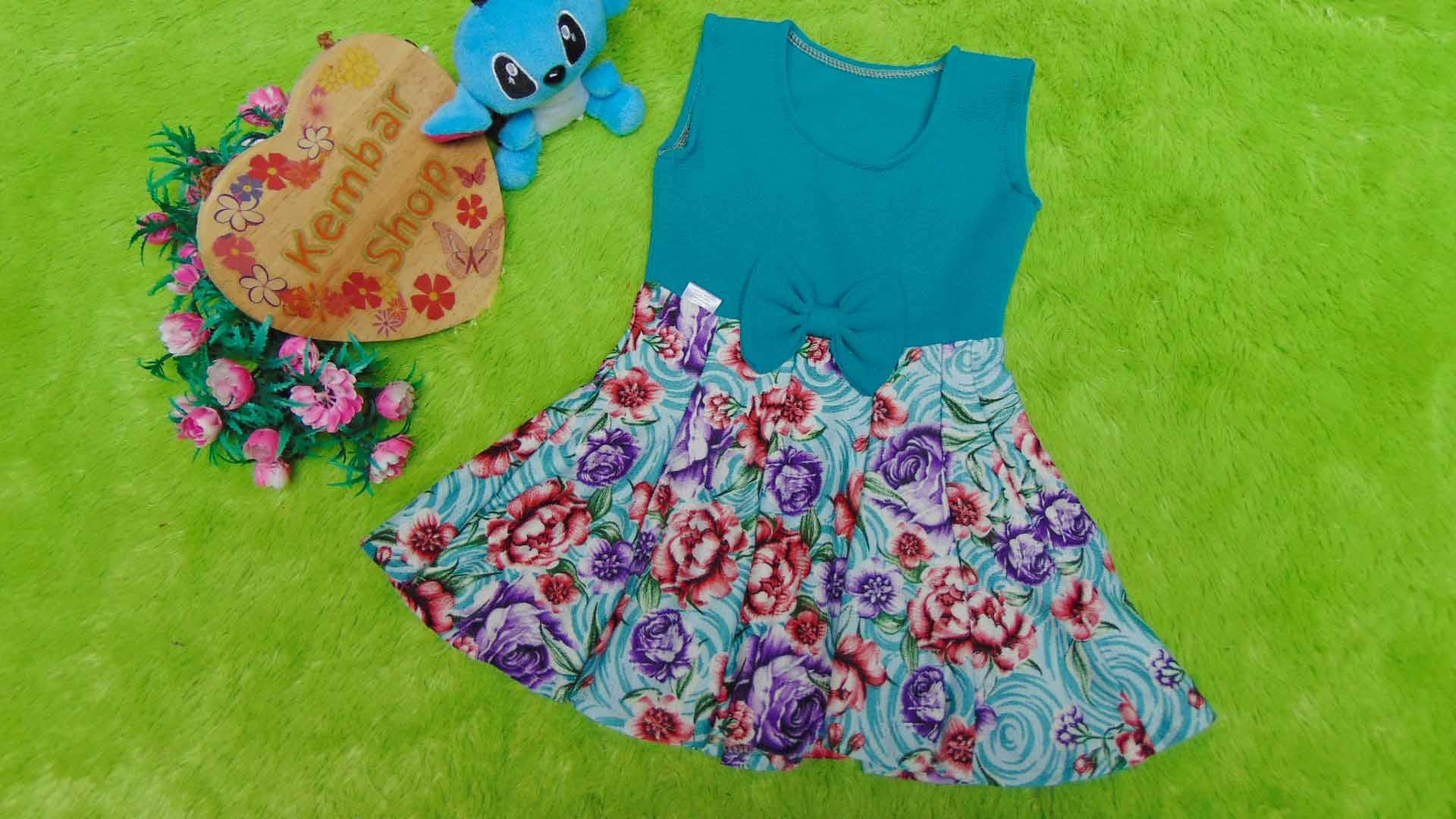 dress baju pesta anak bayi perempuan cewek newborn 0-6bulan pita pastel tosca taman bunga 25 bahan wafel lembut,nyaman untuk bayi, lebar dada 25cm, panjang 44cm, slkn dcocokkan dg uk baby
