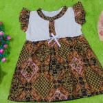 dress batik cewek baju batik bayi perempuan 0-12bulan pita lengan sayap motif batik klasik 25,lebar dada 30cm ,panjang baju 48cm,bahan adem lembut, ada kancing hidup, cocok utk harian