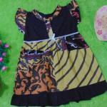 dress batik cewek baju batik bayi perempuan 0-12bulan pita lengan sayap motif batik kombinasi 25,lebar dada 30cm ,panjang baju 49cm,bahan adem lembut, ada kancing hidup, cocok utk harian