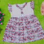 dress batik cewek baju batik bayi perempuan 0-12bulan pita lengan sayap motif bunga merah hitam 25,lebar dada 29cm ,panjang baju 47cm,bahan adem lembut, ada kancing hidup, cocok utk harian