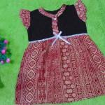 dress batik cewek baju batik bayi perempuan 0-12bulan pita lengan sayap motif floral geometri 25,lebar dada 30cm ,panjang baju 47cm,bahan adem lembut, ada kancing hidup, cocok utk harian