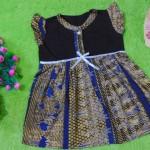 dress batik cewek baju batik bayi perempuan 0-12bulan pita lengan sayap motif mesir kuno 25,lebar dada 29cm ,panjang baju 46cm,bahan adem lembut, ada kancing hidup, cocok utk harian