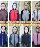 foto utama Paket Usaha Grosir 6PCS Jaket basket hoodie jumper anak bayi 2-4th tebal lembut