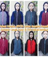 foto utama Paket Usaha Grosir 6PCS Jaket basket hoodie jumper anak bayi 5-7th tebal lembut copy