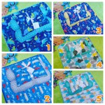 EKSKLUSIF Kado Bayi Baby Bedding Set 4in1 Matras Perlak Set Bantal Peang Plus 2 Guling Aneka Motif Cowok
