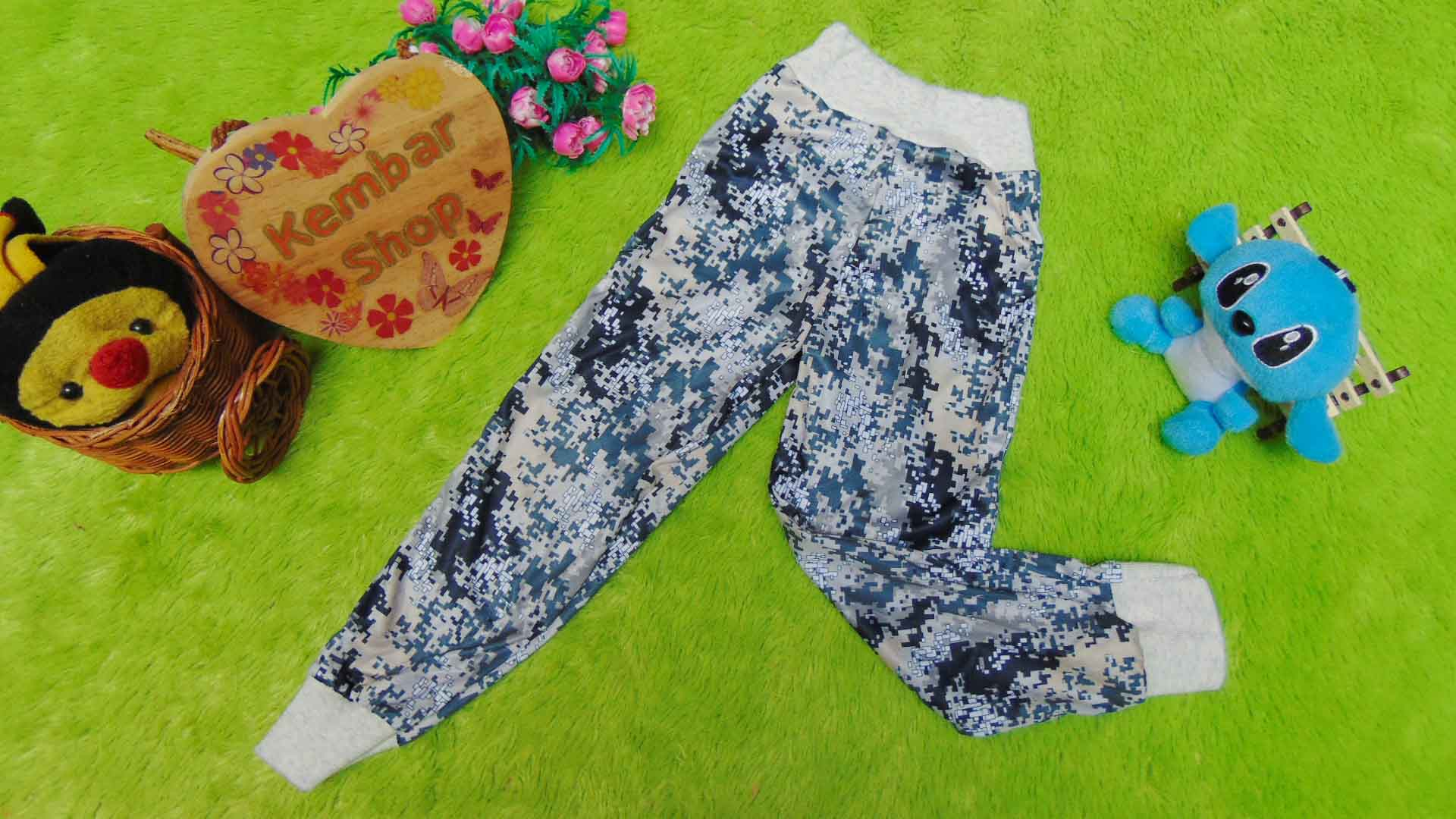 Celana Jogger bayi celana panjang baby 0-12bulan motif mozaik 15 lebar pinggang 15cm-30cm (bisa melar), panjang celana 54cm, bikin dedek bayi tampil kece, bahan adem lembut nyaman untuk harian