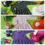 FOTO UTAMA EKSKLUSIF Paket Gamis Bayi plus Jilbab dan Sepatu Boots Bayi 0-12bulan Motif A