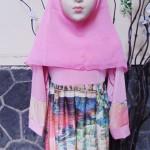 PALING MURAH Baju Muslim Gamis Aira Anak Bayi Perempuan 1-2th Plus Hijab Artistic Painting