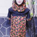 PALING MURAH Baju Muslim Gamis Aira Anak Bayi Perempuan 6-18bulan Plus Hijab Black Flowers