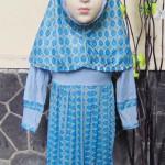 PALING MURAH Baju Muslim Gamis Aira Anak Bayi Perempuan 6-18bulan Plus Hijab ceplok abu
