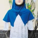 PLUS HIJAB Baju Muslim Gamis Anak Bayi Perempuan Cewek 2-3th BOBO KIDS motif silver blink
