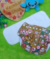PLUS INSERT clodi cloth diapers babyland diapers popok kain bayi 0-12bln motif floral cantik anti bocor murmer bagus