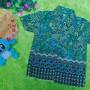 baju batik bayi anak laki-laki kemeja batik bayi hem anak cowok uk 0-2th baju pesta motif kawung kembang tumpal 30 lebar dada 28cm, panjang ke bawah 35cm,