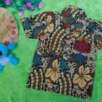 baju batik bayi anak laki-laki kemeja batik bayi hem anak cowok uk 0-2th baju pesta motif kembang pari