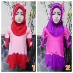 PLUS HIJAB baju muslim nayi gamis anak bayi 1-2th pita cantik gemerlap aneka warna