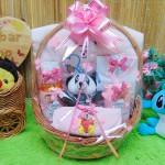 paket kado bayi baby gift kado lahiran parcel bayi parsel kado bayi keranjang spesial tangkai handuk Aneka Warna