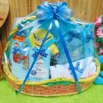 paket kado bayi baby gift kado lahiran parcel bayi parsel kado bayi keranjang tempat makan bayi tangkai feeding set rainbow ekonomis