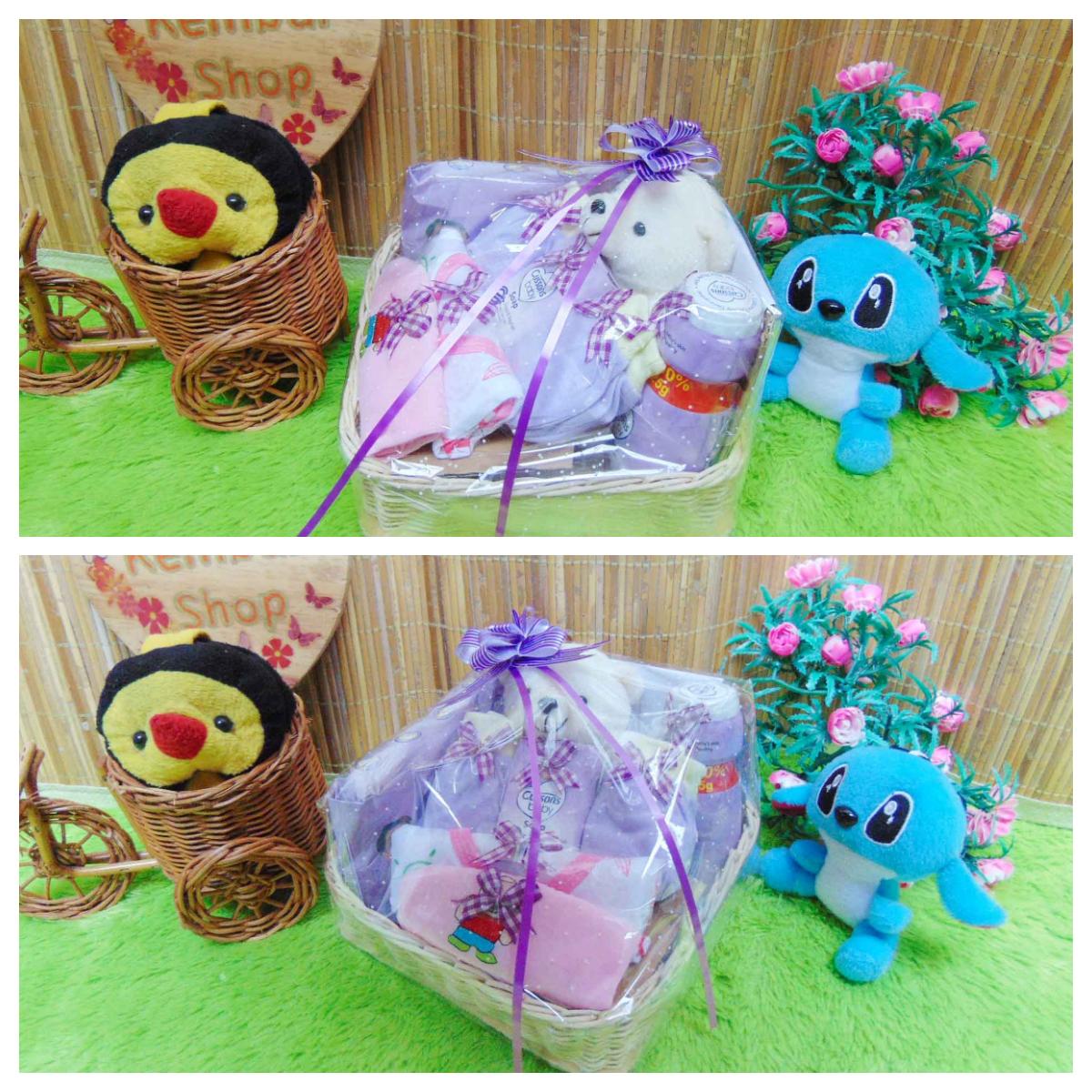 paket kado bayi baby gift kado lahiran parcel bayi parsel kado bayi keranjang wipes spesial Teddy Bear imut (3)