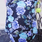 Dress bayi perempuan alisa 0-12bulan lengan kutung tosca navy