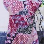 Dress bayi perempuan alisa 0-12bulan lengan pendek batik 2 22 Lebar dada 27cm, Panjang baju 41cm,