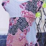 Dress bayi perempuan alisa 0-12bulan lengan pendek batik 22 Lebar dada 25cm, Panjang baju 41cm,