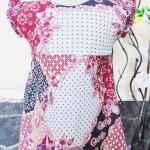 Dress bayi perempuan alisa 0-12bulan lengan pendek batik 3 22 Lebar dada 26cm, Panjang baju 41cm,