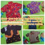 Grosir 6pcs baju batik bayi anak laki-laki kemeja batik batita hem anak cowok uk 0-2th baju pesta