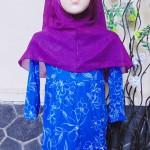 PLUS HIJAB Baju Muslim Gamis Anak Bayi Perempuan Cewek 3-4th BOBO KIDS motif blue purple