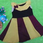 Dress Elegan baju pesta bayi perempuan cewek 0-2th pita sailor dark maroon 21900 lebar dada 29cm, panjang baju 50cm,
