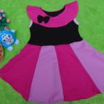 Dress Elegan baju pesta bayi perempuan cewek 0-2th pita sailor pink 21900 lebar dada 28cm, panjang baju 54cm,
