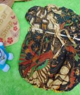 Dress baju pesta batik balon anak bayi perempuan 0-9bulan motif batik kembang
